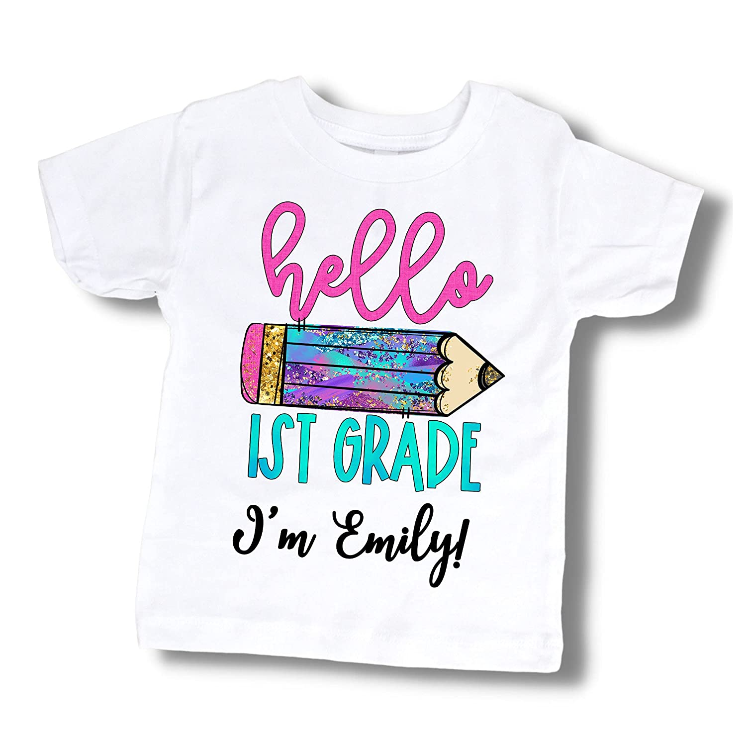 Store First Day of School Tshirt Custom Name 35% OFF for 1st Gir Grade Outfit