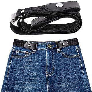 leegoal Cinturón elástico sin hebilla para hombre mujer, Respirar cómodamente sin Hebillas cinturón elástico sin Bulbo o molestia para Hombres y Mujeres