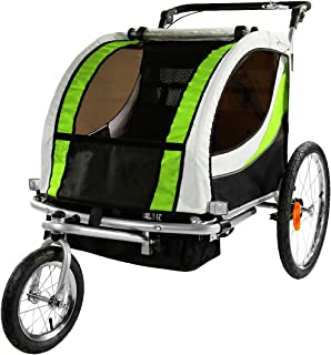 6f4d39373ba Clevr 3-in-1 Collapsible 2 Seat Double Bicycle Trailer Baby Bike Jogger/