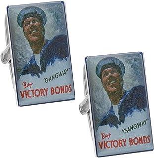 ノスタルジック 戦時 ポスター カフス カフスボタン カフリンクス n01439
