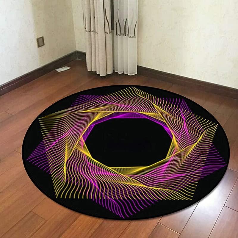 QYLOZ Creative Record Drum Pad Non Slip Padded Children S Round Carpet Cushion Pad Soundproof Drum Electronic Drum Pad Color C Size 120CM