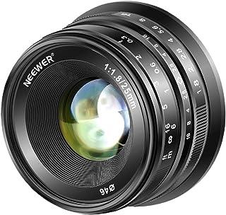 Neewer 25mm f/1.8 Objetivo Manual Principal Fijo Lente para Fujifilm APS-C Cámaras Digitales sin Espejo XPro2 XE3 XH2 X100T X100S XH1 XF2 XPro1 Todo Metal Construcción (Negro)