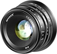 Neewer 25mm f/1.8 Manual Focus Prime Fixed Lens for Fujifilm APS-C Digital Mirrorless Cameras XPro2 XE3 XH2 X100F X100T X100S XH1 XF2 XPro1, All Metal Construction (Black)