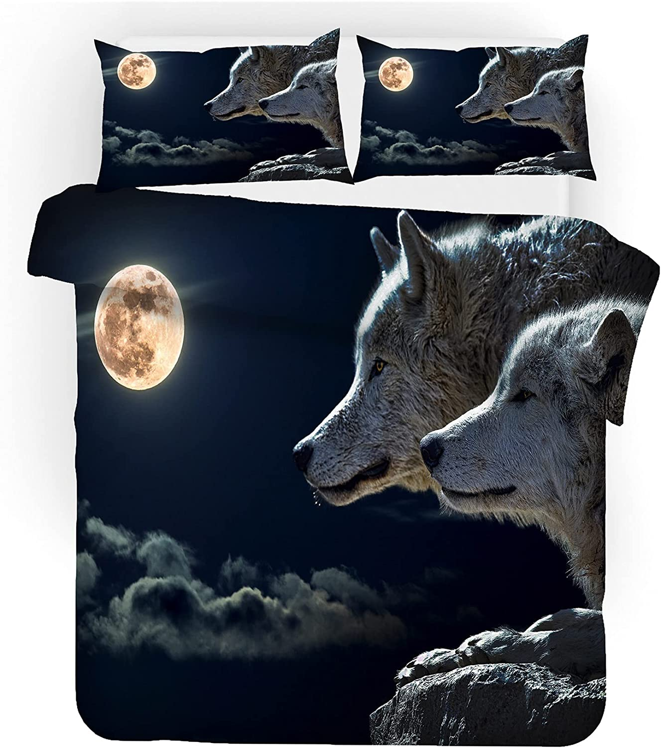 NGLWA Teenager's latest Quilt Low price Set Bed Bag in Theme Bedding Wolf