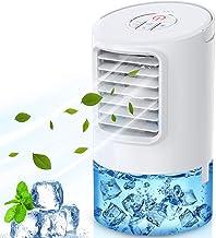 Climatiseur de bureau portable de 400 ml, refroidisseur d'air 4 en 1, ventilateur de climatiseur silencieux mobile, 18 W, ...