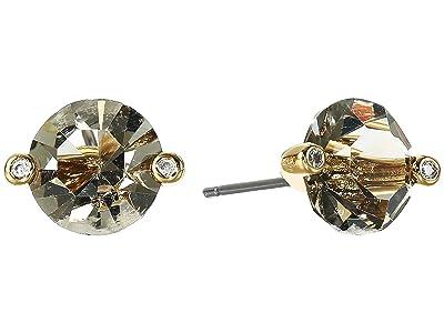 Kate Spade New York Brilliant Statements Duo Prong Studs Earrings (Black Diamond) Earring