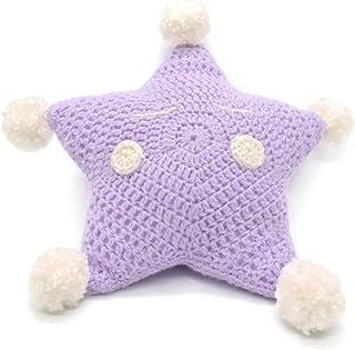Cuscino stella lilla peluche lana cameretta stanza bambina neonata morbido uncinetto