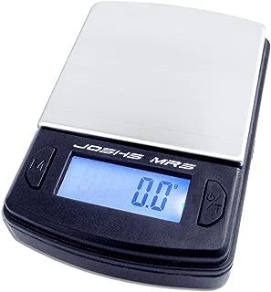 Joshs MR1–Báscula digital de precisión desde 0,1g hasta 500g/0,5kg Pesa, funda–Báscula, mesa de, Industrial, Oro Con superficie de acero inoxidable