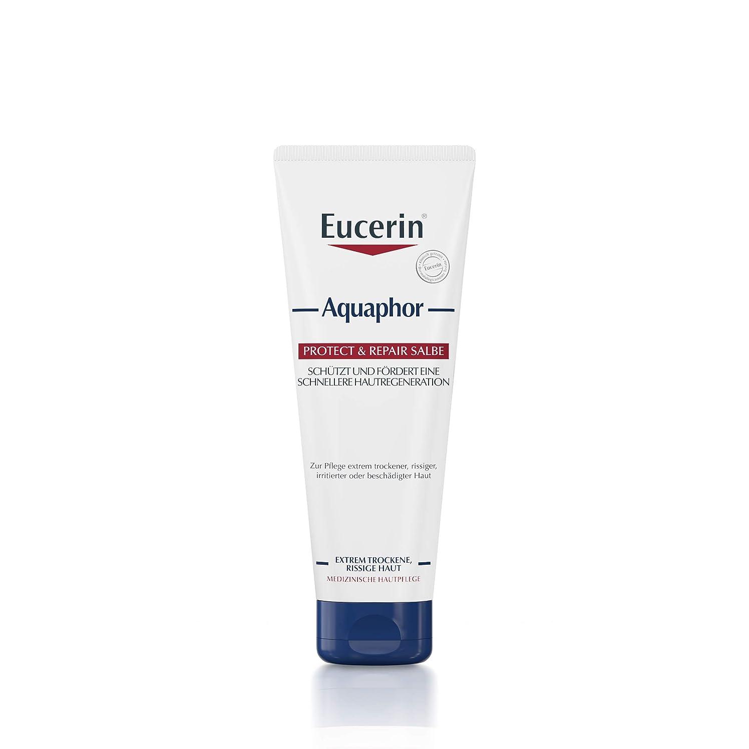 夜間トラクター助言Eucerin Aquaphor Soothing Skin Balm 220ml - EucerinのAquaphor心地よいスキンクリーム220ミリリットル (Eucerin) [並行輸入品]