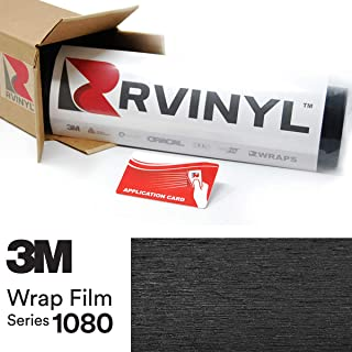 3M 1080 BR212 Brushed Black Metallic 4in x 6in (Sample Size) Vinyl Vehicle Car Wrap Film Sheet Roll