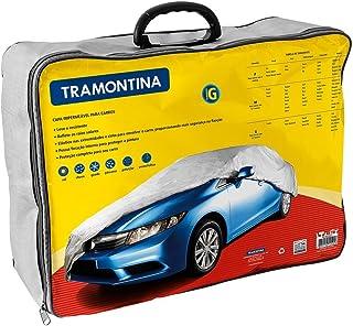 Tramontina 43780003, Capa para Carro G, Impermeável, Cinta para Envolver Veiculo, Carros Ate 5,2 M, Cinza