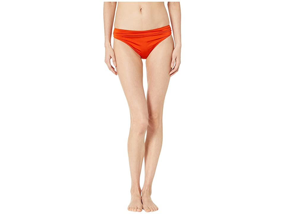 Stella McCartney Ballet Draped Classic Bikini Bottoms (Orange/Cream) Women