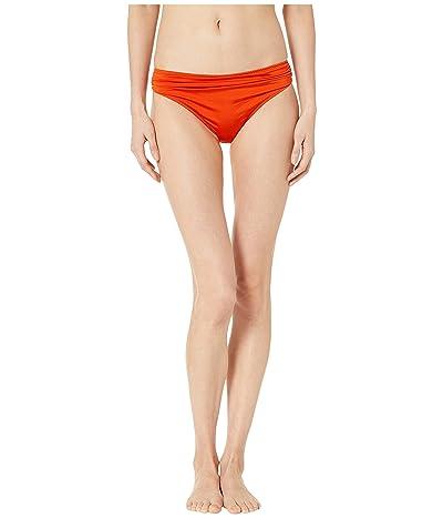 Stella McCartney Ballet Draped Classic Bikini Bottoms (Orange/Cream) Women