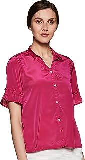 ABOF Women's Plain Regular fit Shirt