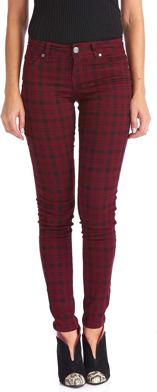 National products Suko jeans Women's Plaid Skinny Stretch Regular store Tartan Jeans Pants Power