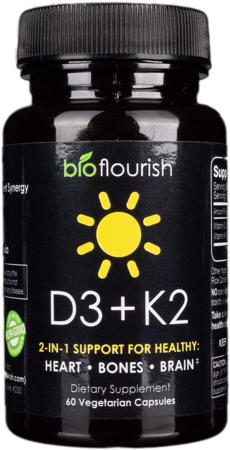 Premium Vitamin D3 5000 IU 4 years warranty with 100 supreme Supplement from mcg K2 B