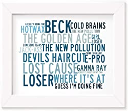 Beck Poster Print - Anthology - Letra firmada regalo arte cartel