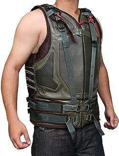 Blingsoul Green Military Mens Leather Vest