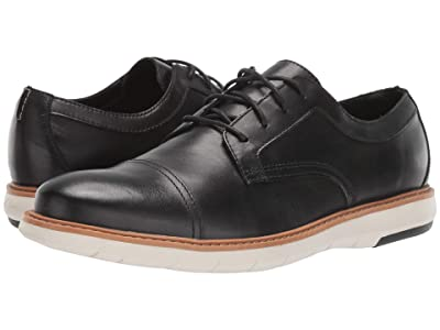 Clarks Draper Cap (Black Leather) Men