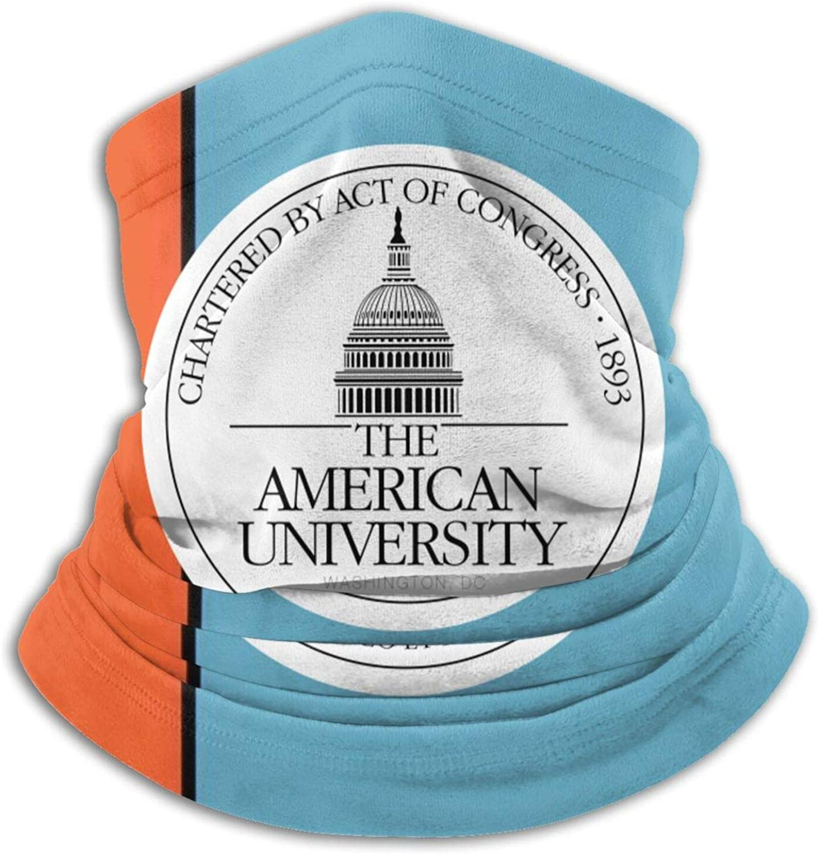 American University Logo Unisex Comfort Microfiber Neck Gaiter Variety Scarf Face Motorcycle Cycling Riding Running Headbands.