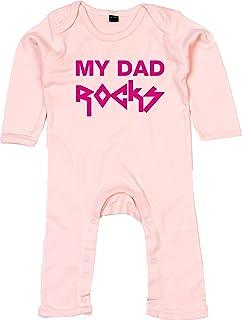 Racker-n-Roll My DAD Rocks Rompasuit Strampler rosa