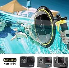 Telesin Puerto de Domo para GoPro Hero 7/6/5 Black/2018, Alojamiento Impermeable Buceo Cubierta de Lentes para GoPro, GoPro Burbuja Agarre Flotante Subacuática Carcasa Accesorios