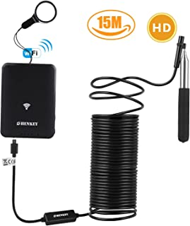WiFi Endoscope 49.2ft aBorescope for iPhone Android with telescopic rod