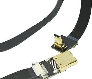 Micro HDMI Corto de 90 Grados a HDMI estándar Full HDMI HDMI Normal HDMI para GoPro Sony A7RII A7SII A9 A6500 A6300 (Toma de Corriente inversa de A6000) Color Negro 50CM