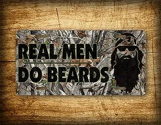 Fhdang Decor Real Men Do Beards License Plate Duck Dynasty Themed Commander Camo Beard Auto Tag 6x12 Aluminum Sign Hillbilly Redneck