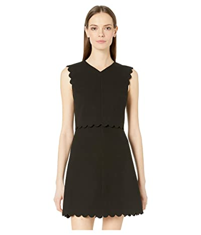 Rebecca Taylor Sleeveless Scallop Dress (Black) Women