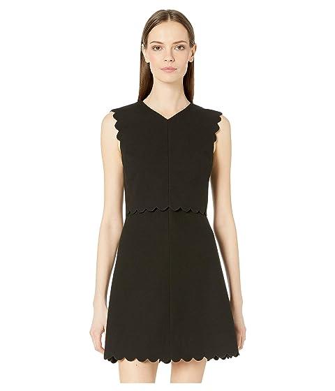 Rebecca Taylor Sleeveless Scallop Dress