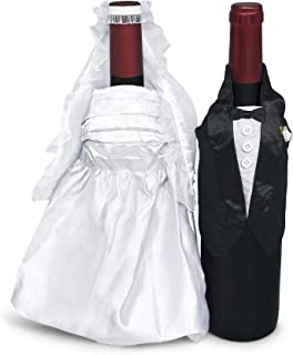 Wine Bottle Covers (Bride and Groom) by Wine Wear