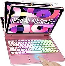"""iPad Air 4th Generation Keyboard Case 10.9"""" 2020, Trackpad Smart Magic Keyboard, Auto Sleep/Wake-10 Color Backlight Keyboa..."""