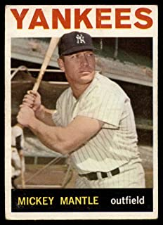 Baseball MLB 1964 Topps #50 Mickey Mantle VG Very Good Yankees