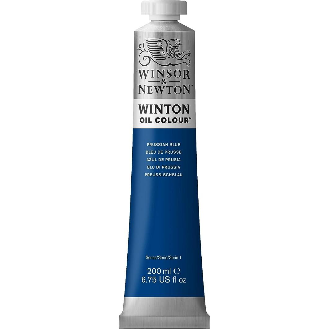 Winsor & Newton Winton Oil Colour Paint, 200ml tube, Prussian Blue