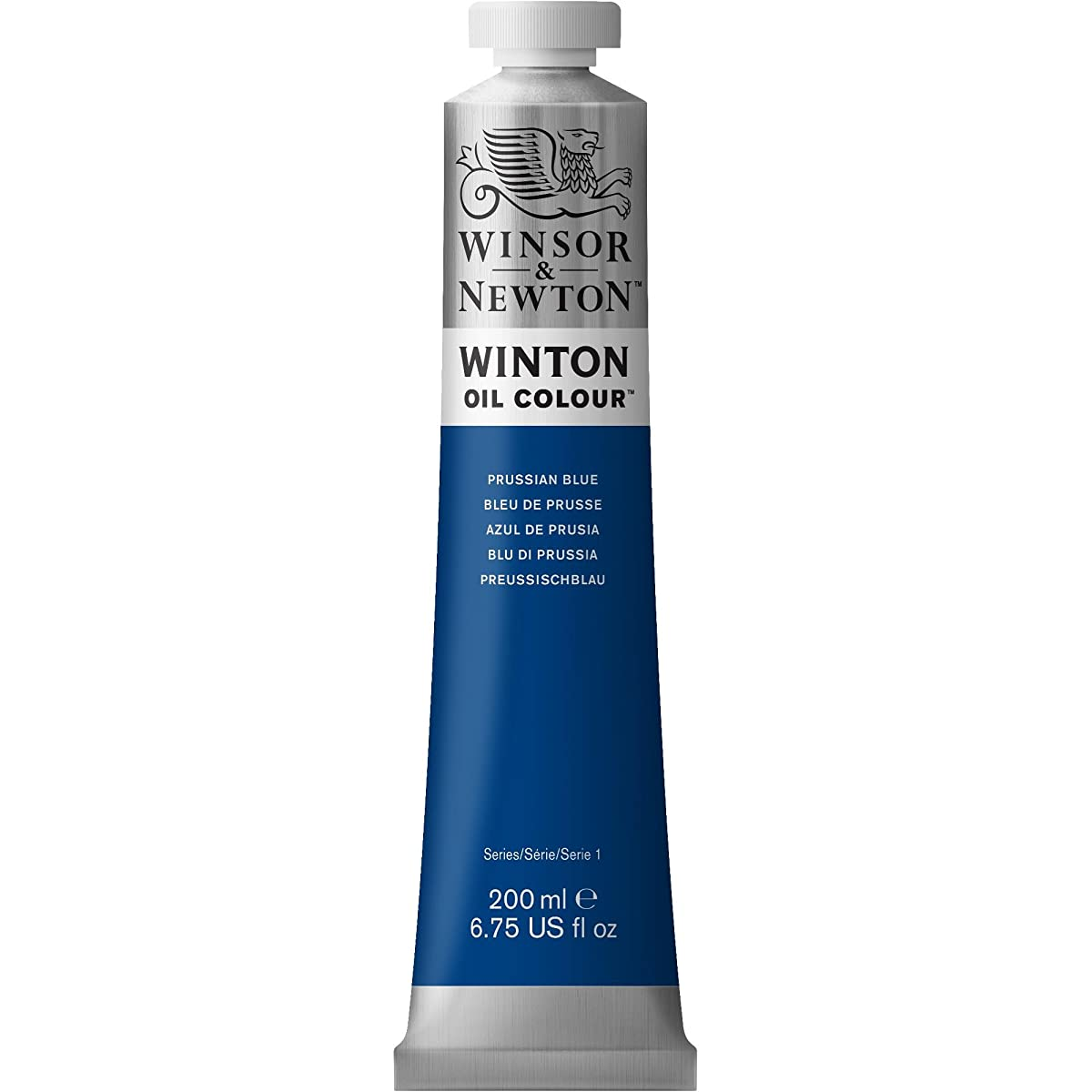 Winsor & Newton Winton Oil Colour Paint, 200ml tube, Prussian Blue