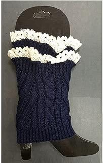 Women Crochet Knitted Lace Nets Trim Boot Cuffs Toppers Leg Warmers Winter Socks - Choose Color
