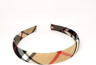 Cerchietto per capelli fatto a mano in tessuto Tartan-Made in Italy