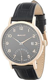 ساعة غانت بيننغتون للرجال بمينا لون اسود وسوار من الجلد - G Gww022007 Gp01، عرض انالوج