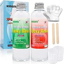 Epoxy hars 520ml/566g Kit - 1:1 verhouding Crystal Clear hars coating voor hout, bar, tafel, sieraden maken, ambachtelijke...