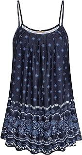 Women Summer Casual Flowy Sleeveless Camisole Tank Tops