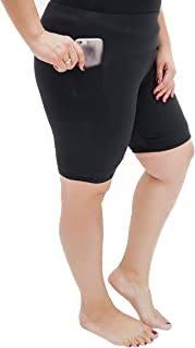 Oh So Soft High Waist Biker Shorts with Pocket, Lightweight, Durable and Stretchy, for Plus Size Women