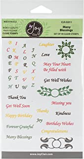Joy Clair Clear Stamps 4x6-Many Blessings Sentiments