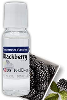 NoTE Liquid Blackberry 1-4oz - Food Grade Concentrated Flavoring for Cooking, Baking, or DIY Liquid (30mL/1oz)