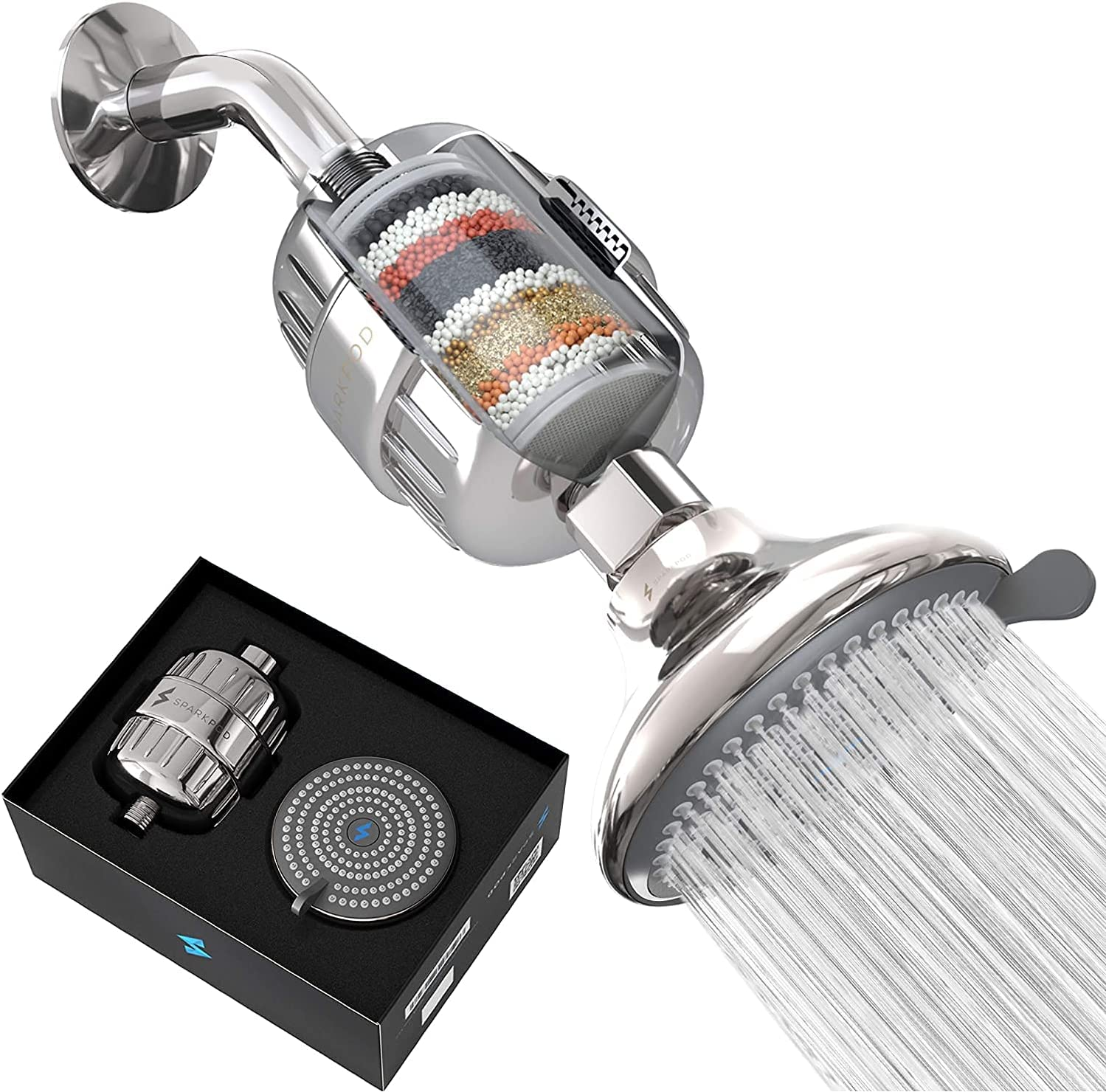 SparkPod Filter San Diego Mall 5 ☆ popular Shower Head - for Water High-Pressure Filtration