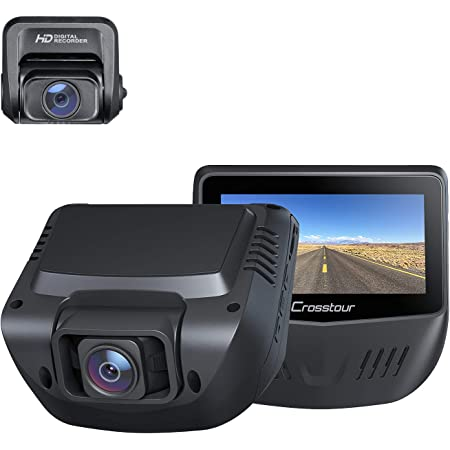 Dual Dash Cam, Front and Rear 1080P Dash Camera for Cars, Optional GPS, 170° Wide Angle, Support 128GB Recorder with 3 Inch IPS Screen, Driving Recorder with Supercapacitor, G-Sensor, Loop Recording