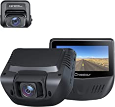 Crosstour Dash Cam Both 1080P FHD Front and Rear Dual Lens in Car Camera Recorder External GPS HDR Both 170 degree Angel M...