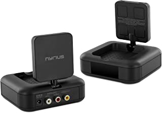 Nyrius 5.8GHz 4 Channel Wireless Video & Audio Sender Transmitter & Receiver with IR Remote Extender for Streaming Cable S...