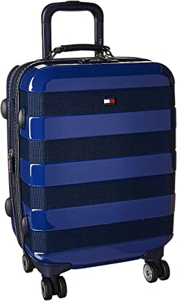 "Rugby Stripe 21"" Upright Suitcase"