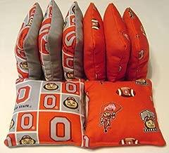 8 Cornhole Bean Bags Ohio State Buckeyes Osu Bucks Top Quality Tailgate Toss